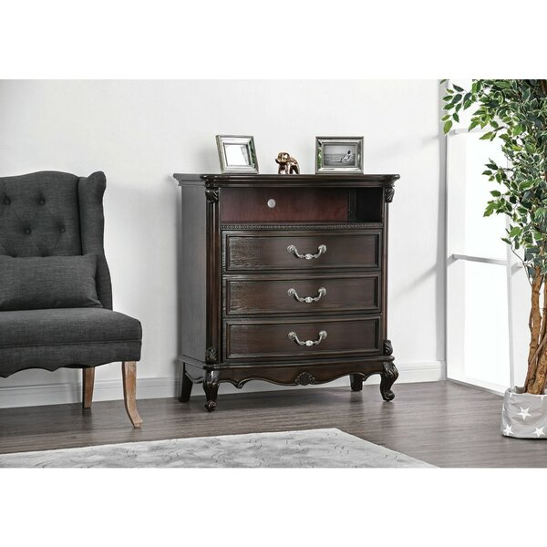 Voss Solid Wood 3 Drawer Media Chest By Astoria Grand