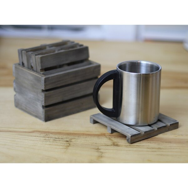 6 Piece Crate Coaster Set by Loon Peak