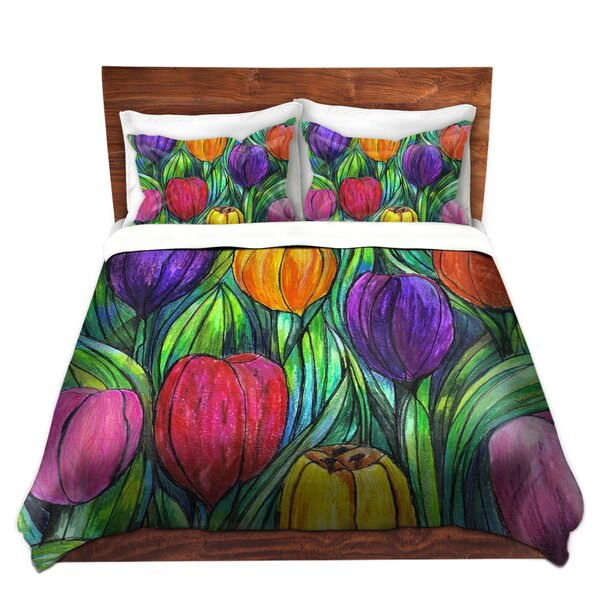 Mangano Maeve Wright Tulip Patch Microfiber Duvet Covers by Red Barrel Studio