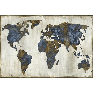 'The World I' Graphic Art Print on Canvas by East Urban Home