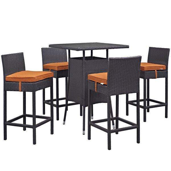 Ryele 5 Piece Bar Height Dining Set by Latitude Run