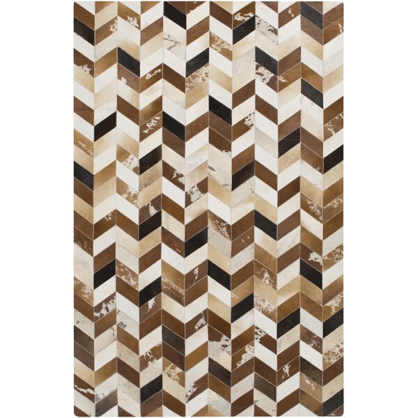 Galarza Hand-Crafted Brown Area Rug by Brayden Studio