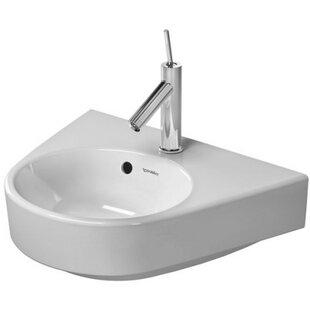 Starck Ceramic 20 Wall Mount Bathroom Sink with Overflow Duravit