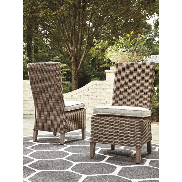 Farmersville Patio Dining Chair with Cushion (Set of 2) by Greyleigh