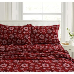 Purchase Fay Snowflake Flannel Sheet Set ByThe Holiday Aisle