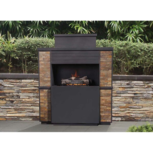 Matheson Steel Propane Outdoor Fireplace by Sunjoy