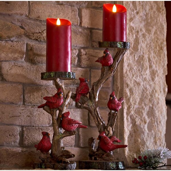 Cardinal 2 Piece Candelabra Set by Plow & Hearth