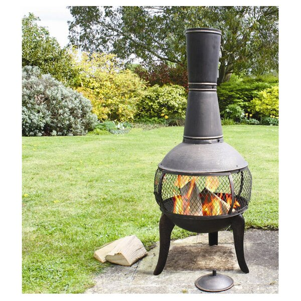 Tuscan Glo Steel Wood Burning Chiminea by Deeco