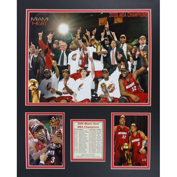 2006 Miami Heat NBA Champions Framed Photographic Print by Legends Never Die