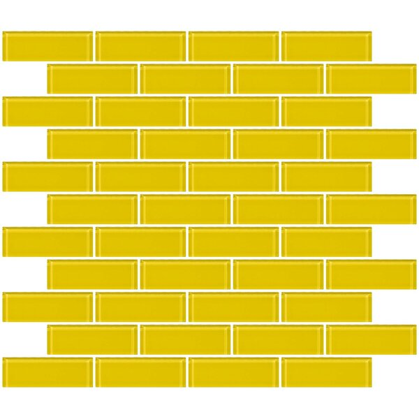 1 x 3 Glass Subway Tile in Bright Yellow by Susan Jablon