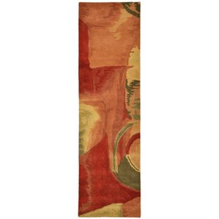 Melaney Hand-Tufted Wool Red Area Rug by Latitude Run