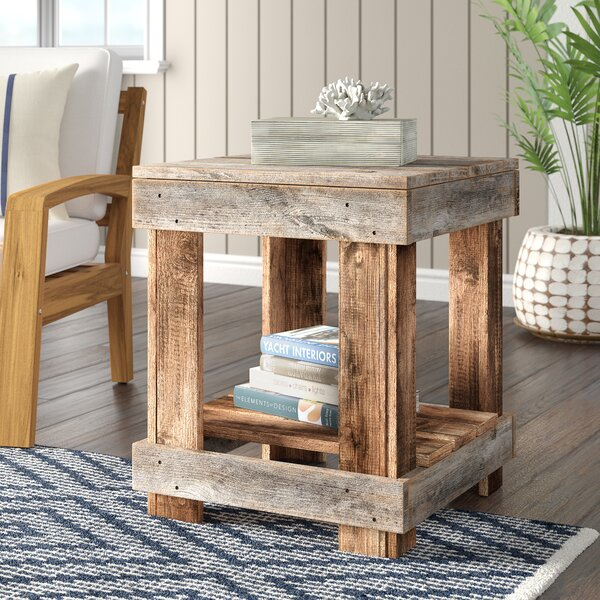 Sudbury Solid Wood End Table With Storage By Highland Dunes