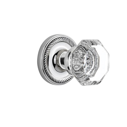 Nostalgic Warehouse Crystal Parlor Interior Mortise Door Lever With Rope Rosette Reviews Wayfair