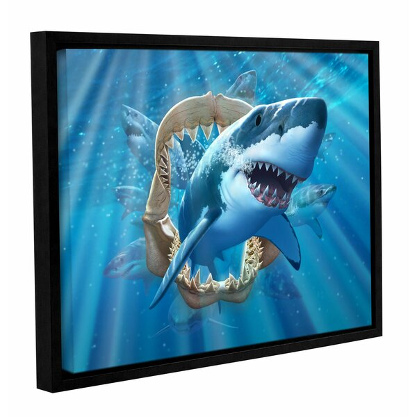 Great Shark Framed Graphic Art on Canvas by Zoomie Kids