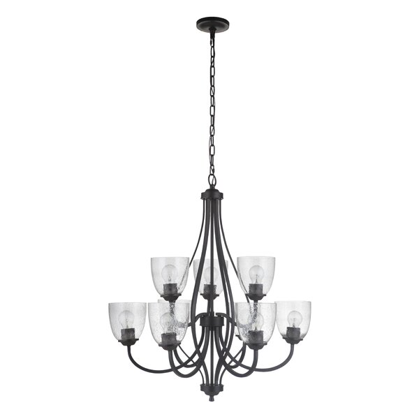 Ozgu 9 - Light Shaded  Tiered Chandelier by Red Barrel Studio Red Barrel Studio