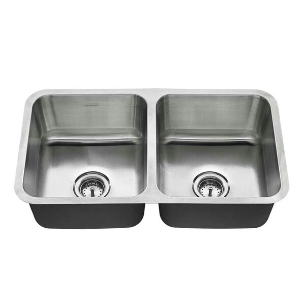 Reliant + 32 L x 18 W Double Basin Undermount Kitchen Sink by American Standard