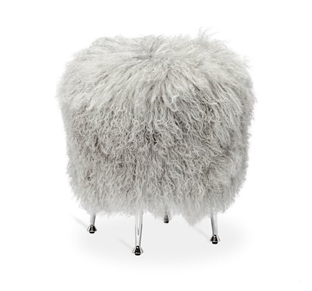Antonia Sheepskin Accent Stool by Interlude