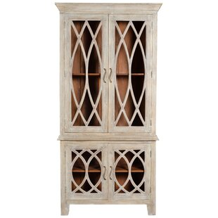 Reviews Pinner Glass Tall 4 Door Accent Cabinet ByOne Allium Way