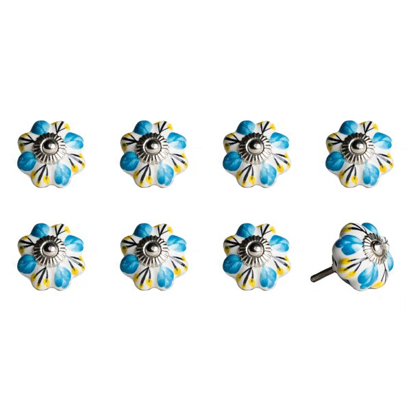 Handpainted Ceramic Novelty Knob (Set of 8) by Taj Hotel