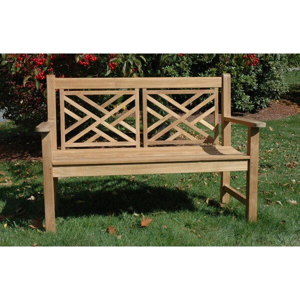 Teak Chippendale Garden Bench by Regal Teak