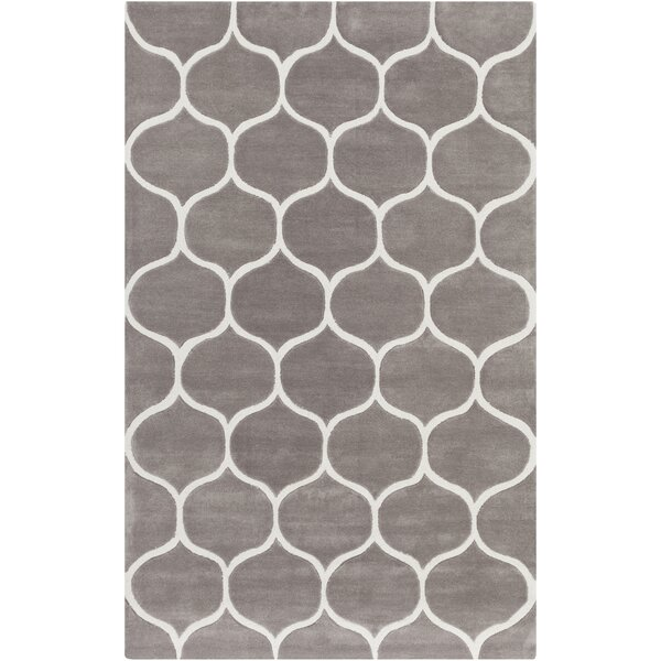 Duffield Hand-Tufted Ivory/Taupe Area Rug by Andover Mills