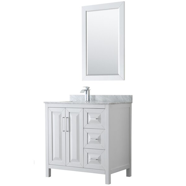 Daria 36 Single Bathroom Vanity Set with Mirror by Wyndham CollectionDaria 36 Single Bathroom Vanity Set with Mirror by Wyndham Collection