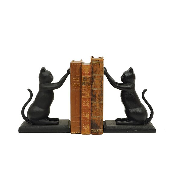 Cast Iron Cat Book End by Three Posts