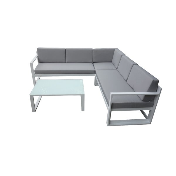 Jimmie 3 Piece Sectional Seating Group with Cushions by Corrigan Studio