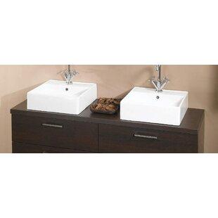 aurora 61 double bathroom vanity top - Bathroom Cabinets Tops