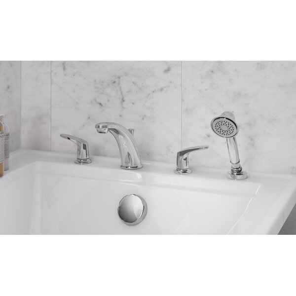 Colony Pro Double Handle Deck Mounted Roman Tub Faucet Trim With Diverter And Handshower By American Standard