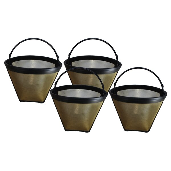 4 Cup Gold Tone Coffee Filter (Set of 4) by Crucial