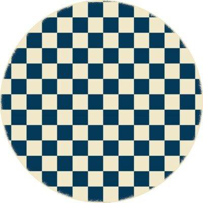 Catoe Checker Blue/Ivory Indoor/Outdoor Area Rug by Red Barrel Studio