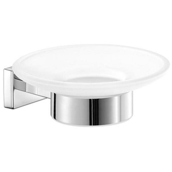 Snead Wall Mounted Frosted Glass Soap Dish by Orren Ellis