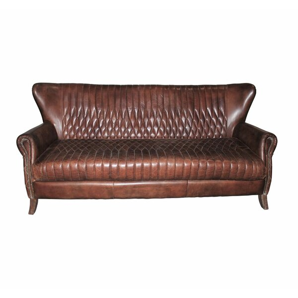 Riddell Leather Sofa By Loon Peak