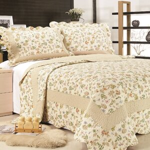 Brooke Cotton Reversible Quilt Set