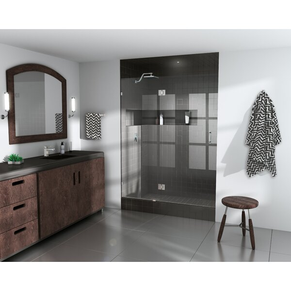 56.75 x 78 Hinged Frameless Shower Door by Glass Warehouse