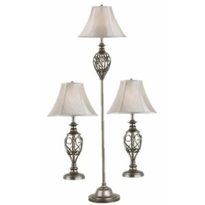 Ratchford 3 Piece Table and Floor Lamp Set