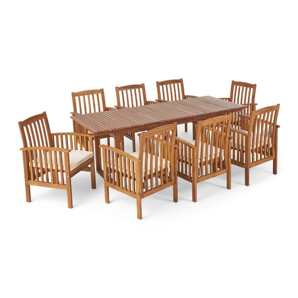 Daliah 9 Piece Dining Set with Cushions by Ivy Bronx