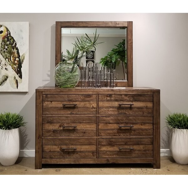 Emst 6 Drawers Double Dresser with Mirror by 17 Stories