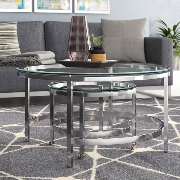 Joel 2 Piece Coffee Table Set by Wade Logan