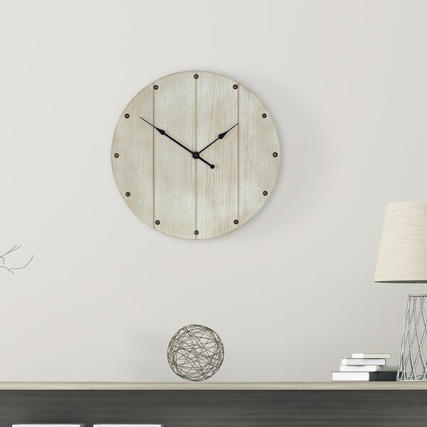 Victorine Rustic Wood Plank 12 Wall Clock by Gracie Oaks