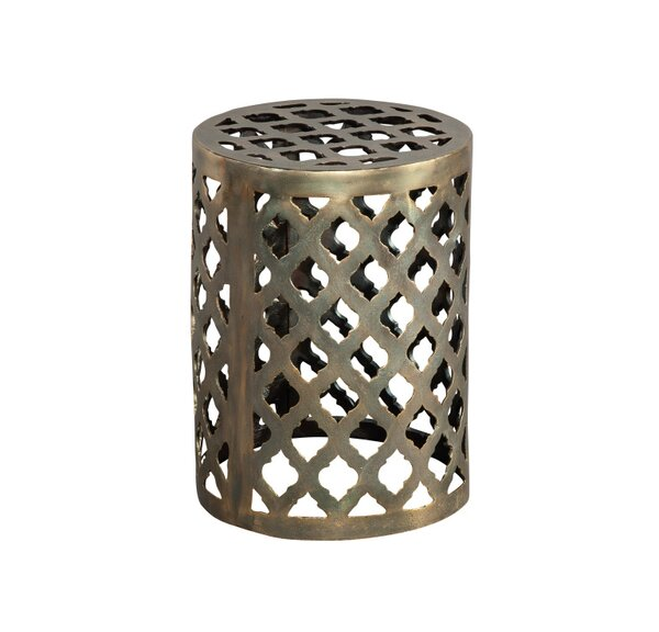 Paez Brass Garden Stool by World Menagerie