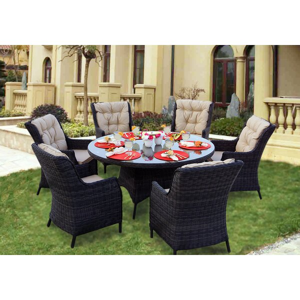 Audra 7 Piece Dining Set with Cushions by Orren Ellis