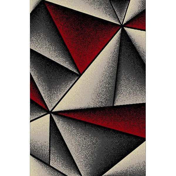 Cosper Red/Gray Area Rug by Orren Ellis