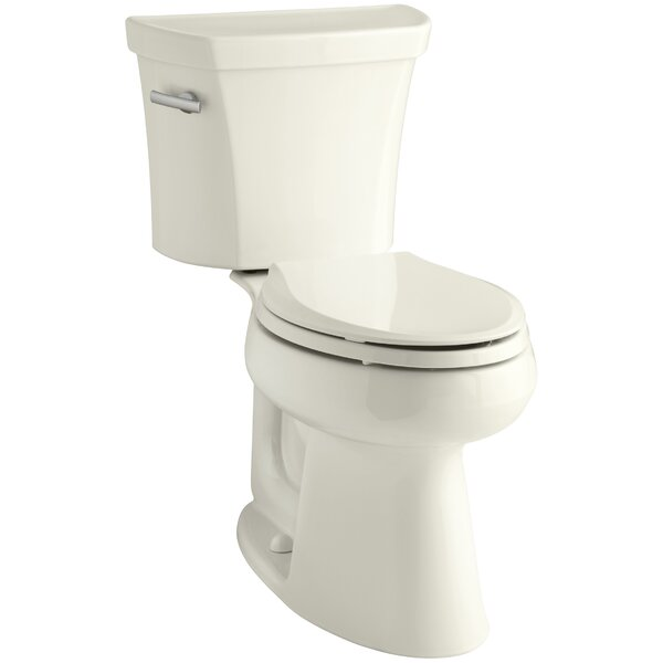 Highline Comfort Height Two-Piece Elongated 1.28 GPF Toilet with Class Five Flush Technology, Left-Hand Trip Lever and Insuliner Tank Liner by Kohler