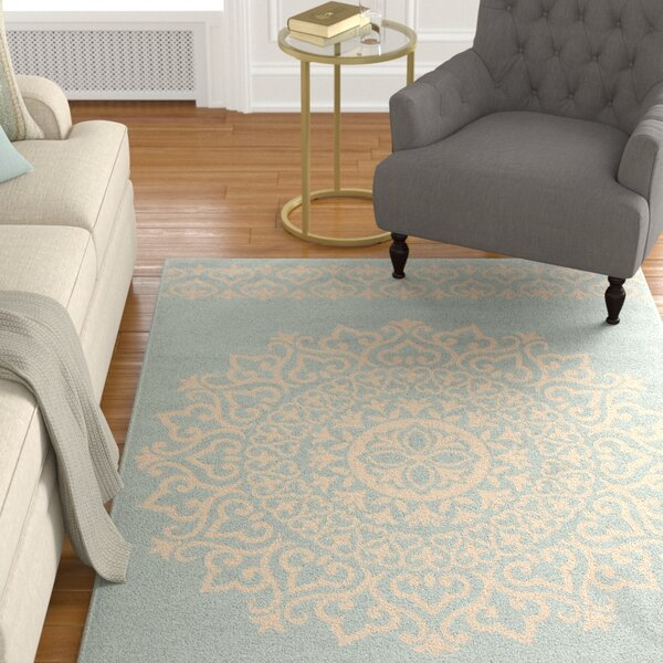 Dunnyvadden Cream/Aqua Area Rug by Canora Grey