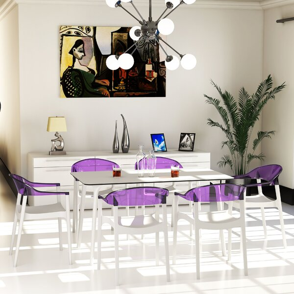 Goggins Plastic Dining Table by Ebern Designs