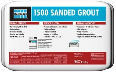 LAT 1500 Sanded Grout 25 Lb by Laticrete