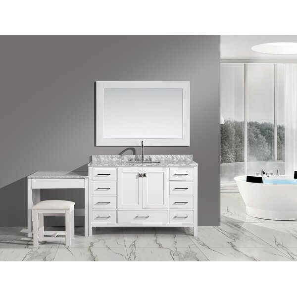 Carrasquillo 78 Single Bathroom Vanity Set with Mirror