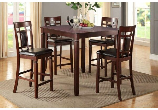 Staytonville 5 Piece Counter Height Dining Set by Winston Porter